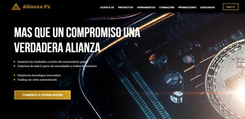 Alianza FX pagina web