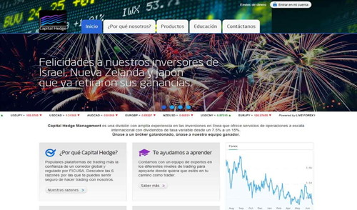 Capital Hedge pagina web
