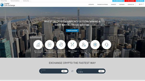 Capital coin exchange pagina