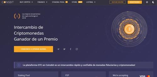 Coinsbit Global Exchange pagina web