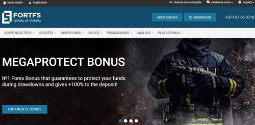 Fort Financial Services pagina web