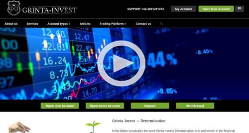 Grinta invest pagina web