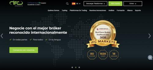 IFC Markets pagina web