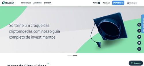 NovaDAX pagina web