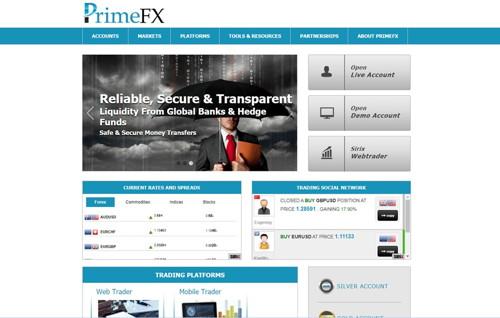 PFX Bank pagina web