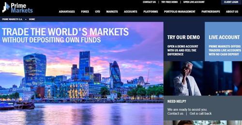 Prime Markets pagina web