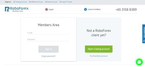 Roboforex pagina web