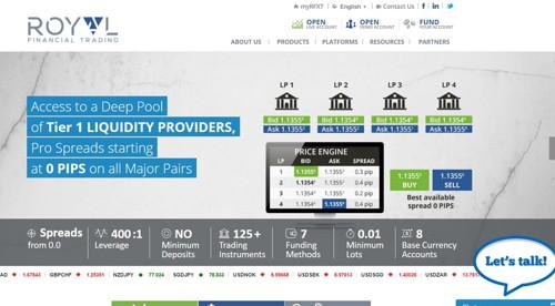 Royal Financial Trading pagina web