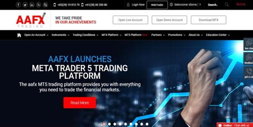 AAFX Trading pagina web