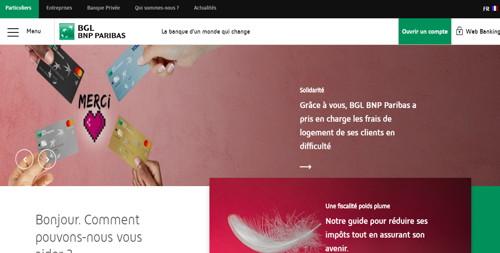 BGL BNP paribas pagina web
