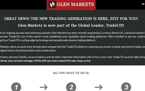 Glen markets pagina web