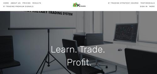 K2 Trades pagina web