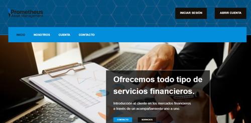 Prometheus Asset Management pagina web
