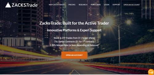 Zacks trade pagina web