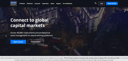 saxo bank pagina web
