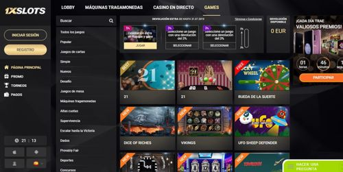 1xSlots Casino revision