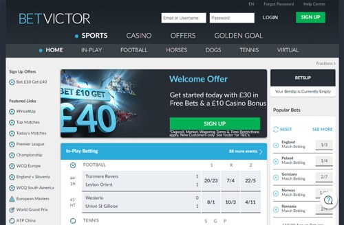 BetVictor revision