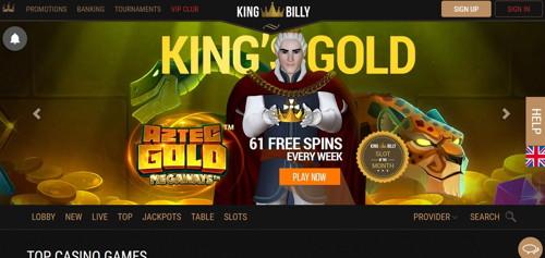 King Billy página web