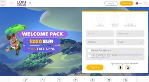 Loki Casino Página web