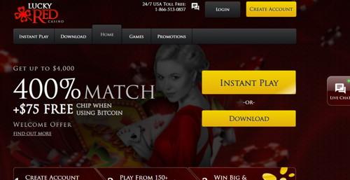 Lucky red casino página web