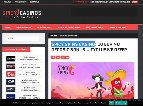 Spicy Spins Casino revision