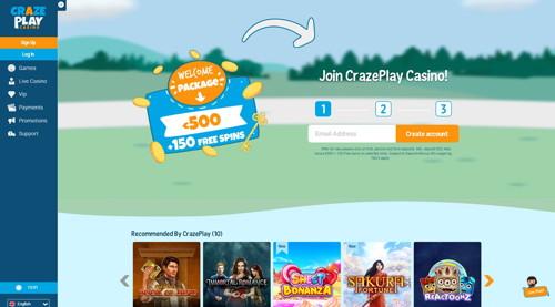 craze play casino página web